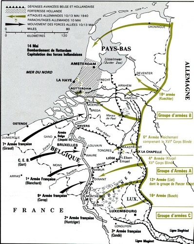 carte invasion de la France w